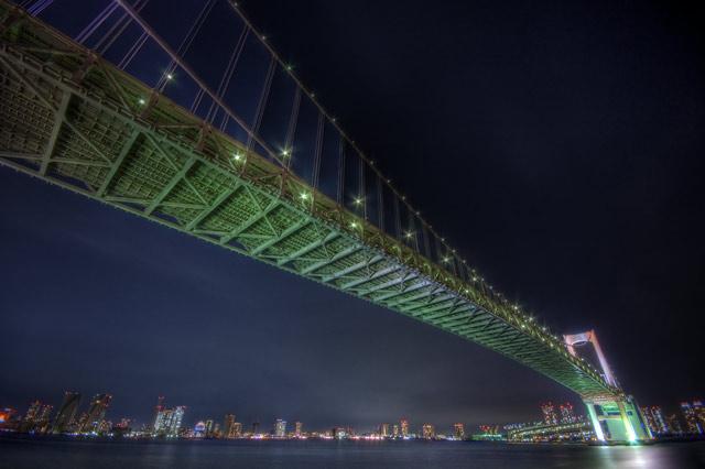 HDR(ハイダイナミックレンジ)レインボーブリッジin夜景@東京月島bridge001.jpg