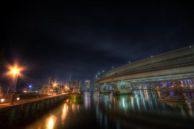 HDR(ハイダイナミックレンジ)レインボーブリッジ@芝浦ふ頭駅側bridge003.jpg