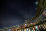 ハイダイナミックレンジ写真 - レインボーブリッジ前@芝浦