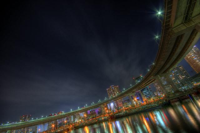 HDR(ハイダイナミックレンジ)レインボーブリッジ前@芝浦bridge005.jpg