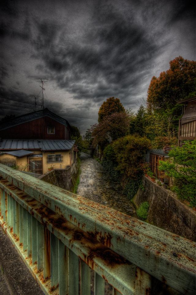HDR(ハイダイナミックレンジ)錆びた橋@京都bridge012.jpg