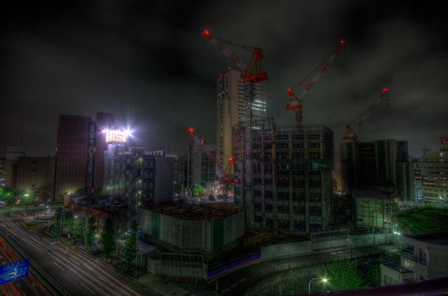 HDR(ハイダイナミックレンジ)クレーン@中目黒building110.jpg