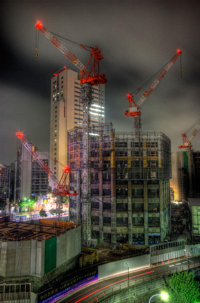 HDR(ハイダイナミックレンジ)どんどん出来るアトラスタワー@中目黒building112.jpg