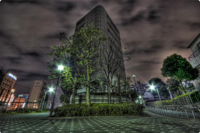 HDR(ハイダイナミックレンジ)三叉路夜景@大塚building14.jpg