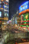 ハイダイナミックレンジ写真 - ストリートパフォーマンス@JR新宿駅南口