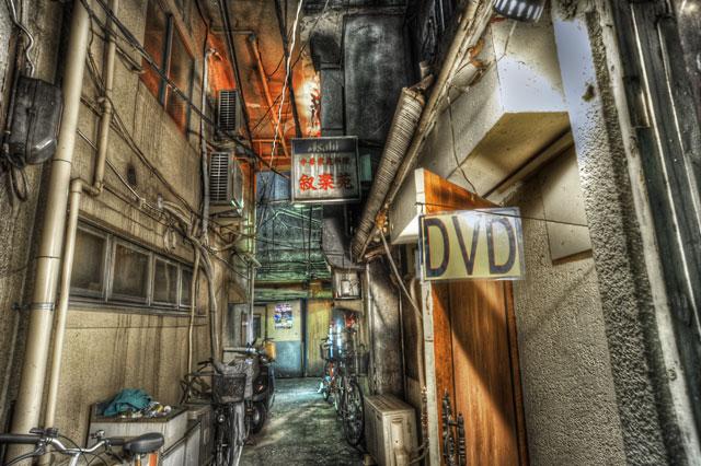 HDR(ハイダイナミックレンジ)裏の裏道@新宿
