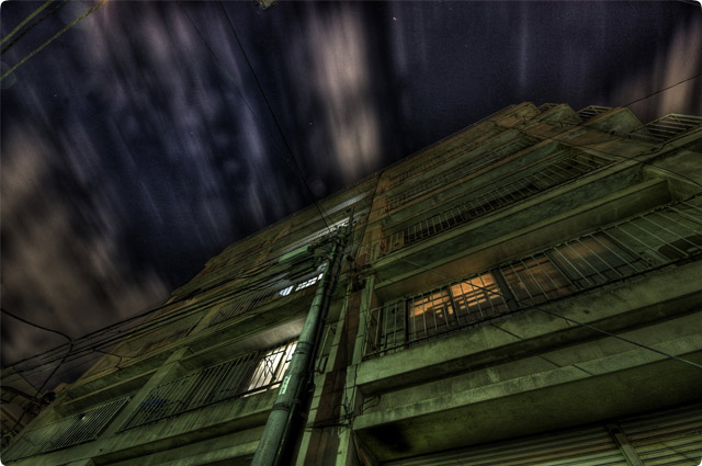 HDR(ハイダイナミックレンジ)某所不法侵入前夜景@大塚building16.jpg