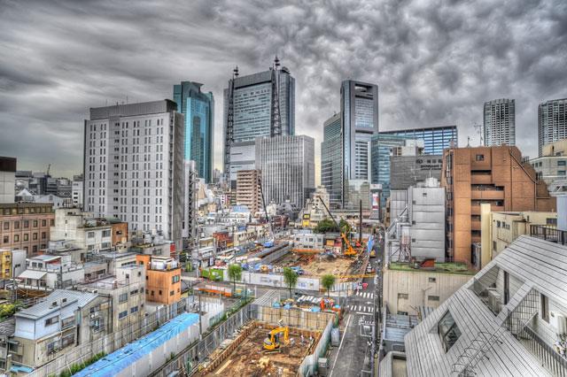 HDR低速度撮影ムービー@中目黒の空