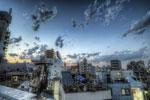 ハイダイナミックレンジ写真 - 屋上からの空と雲と@田端