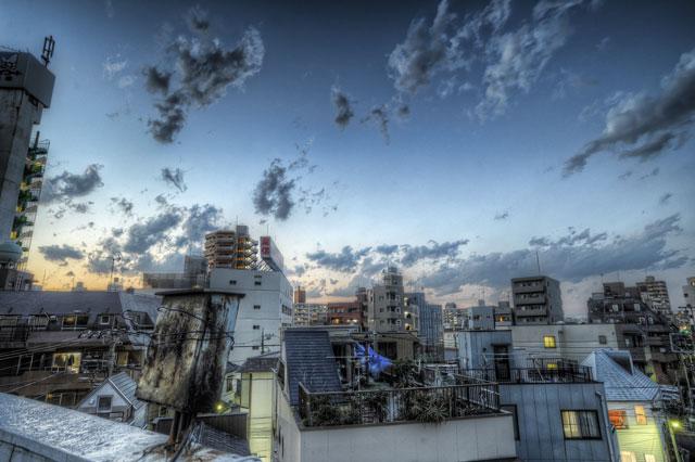 屋上からの空と雲と@田端