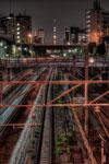 ハイダイナミックレンジ写真 - 線路の向こうのスカイツリー@池袋