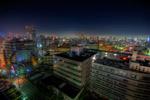 ハイダイナミックレンジ写真 - 巣鴨警察署横のマンションから夜景@巣鴨