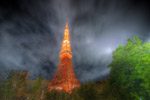 ハイダイナミックレンジ写真 - 東京タワーを夜景で@赤羽橋