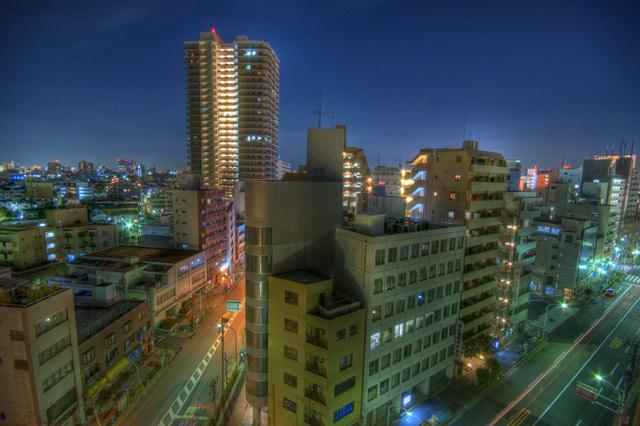 HDR(ハイダイナミックレンジ)目についたビル片っ端から屋上へ@大塚building85.jpg