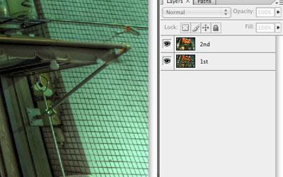 photoshopHDR製作フロー:レイヤー配置