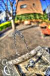 ハイダイナミックレンジ写真 - 近所の公園の水の弧@中目黒