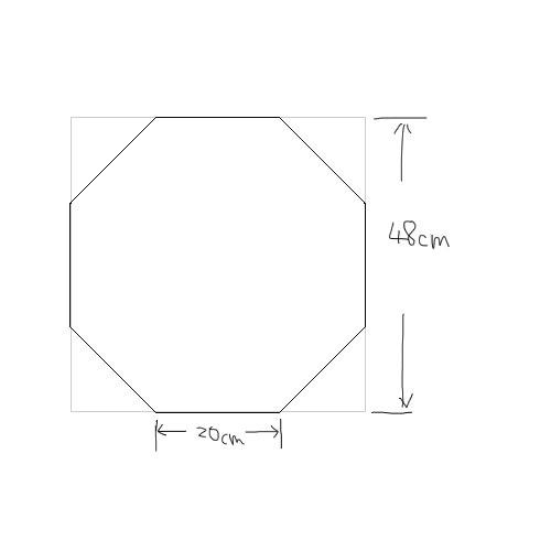 正方形から正八角形を描く