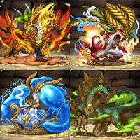 歴龍のビジュアル4種