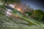 ハイダイナミックレンジ写真 - 散った桜流れろら@教育の森公園