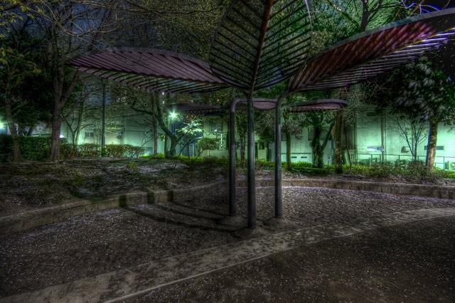 HDR(ハイダイナミックレンジ)木の葉オブジェ@教育の森公園park26.jpg