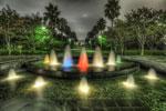 ハイダイナミックレンジ写真 - 潮風公園の噴水はよい
