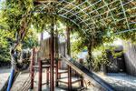 ハイダイナミックレンジ写真 - 公園の滑り台@直島