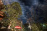 ハイダイナミックレンジ写真 - のぼり、傘@東京タワーのふもと