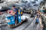 ハイダイナミックレンジ写真 - 築地の道のメーヴェ