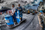 ハイダイナミックレンジ写真 - 築地の道のメーヴェ@アスベルと共に