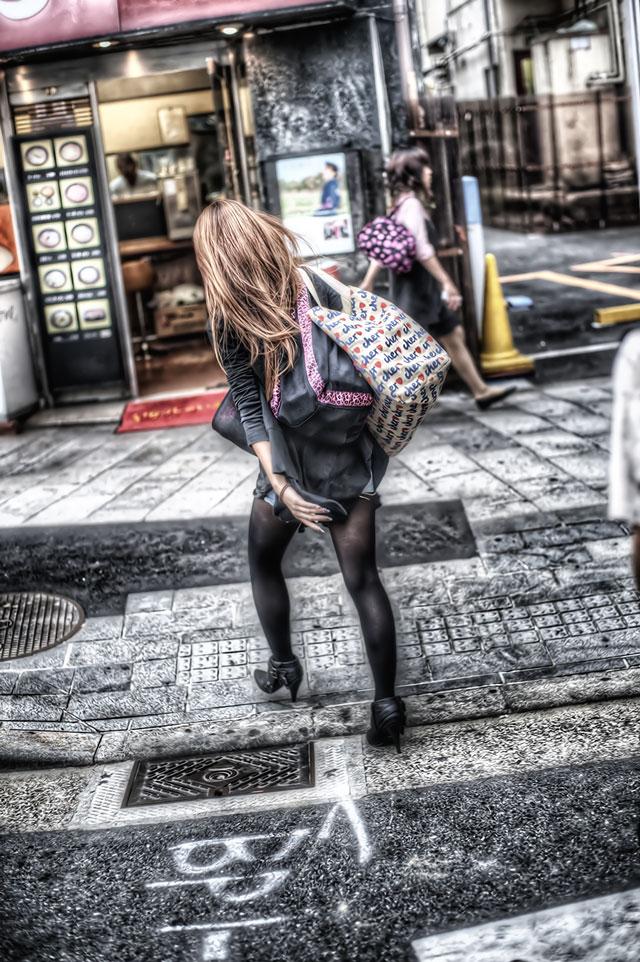 銀残しと人物と@渋谷