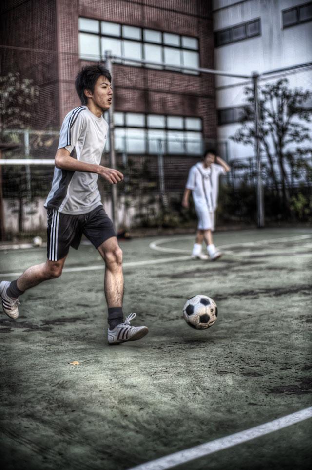 昼休みのサッカー@新御茶ノ水