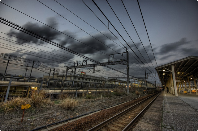 HDR(ハイダイナミックレンジ)線路@米原railway01.jpg