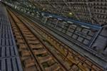 ハイダイナミックレンジ写真 - 対角線ぶったぎり線路@米原駅