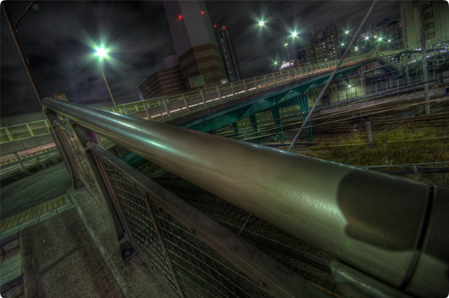 HDR(ハイダイナミックレンジ)鉄橋@池袋railway12.jpg