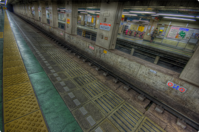 HDR(ハイダイナミックレンジ)地下鉄構内@東京都内railway13.jpg
