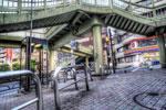 ハイダイナミックレンジ写真 - いびつに歩道橋@目黒
