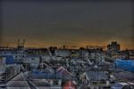 ハイダイナミックレンジ写真 - 某ビル屋上の夕焼け@代々木近辺
