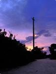 ハイダイナミックレンジ写真 - 太陽と雲@竹富島