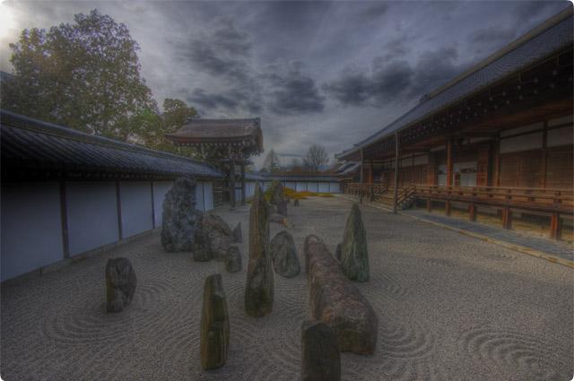 HDR(ハイダイナミックレンジ)東福寺枯山水とHDR@京都temple22.jpg
