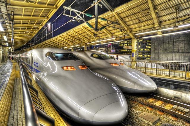 HDR(ハイダイナミックレンジ)新幹線@東京駅