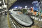 ハイダイナミックレンジ写真 - 新幹線700系電車@名古屋