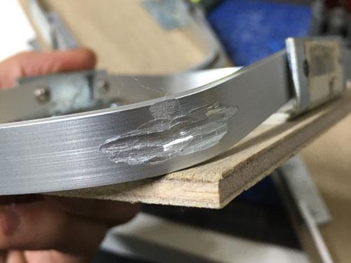 アルミ部削り加工