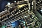ハイダイナミックレンジ写真 - 高速道路への昇り階段@五反田