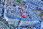 ハイダイナミックレンジ写真 - 屋上から工事現場@池尻大橋