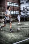 ハイダイナミックレンジ写真 - 昼休みのサッカー@新御茶ノ水